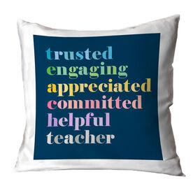Teacher Throw Pillow - Teacher Mantra