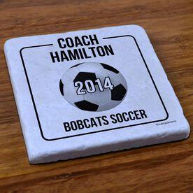 Soccer Stone Coaster Personalized Soccer Coach Box