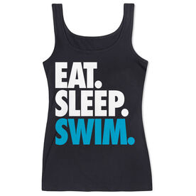Swimming Women's Athletic Tank Top Eat. Sleep. Swim.
