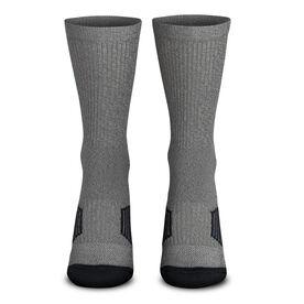 Team Number Woven Mid-Calf Socks - Gray/Black