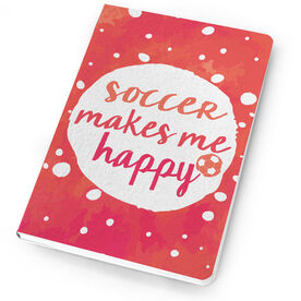 Soccer Notebook - Soccer Makes me Happy
