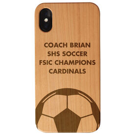 Soccer Engraved Wood IPhone® Case - Coach