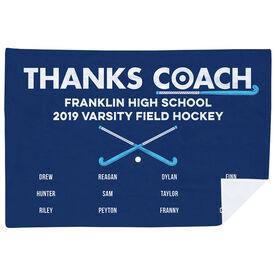 Field Hockey Premium Blanket - Thanks Coach (Horizontal)