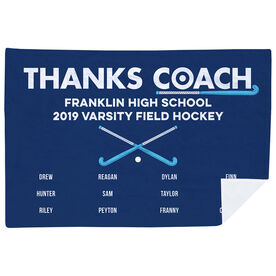Field Hockey Premium Blanket - Thanks Coach (Horizontal)
