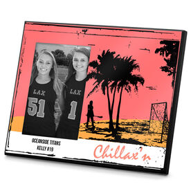 Lacrosse Personalized Photo Frame Chillax'n Female