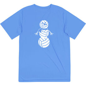 Volleyball Short Sleeve Performance Tee - Volleyball Snowman