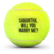 Custom Text Tennis Ball
