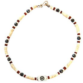 Power Hematite SportBEAD Soccer Necklace (Ivory) -CC