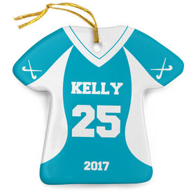 Field Hockey Porcelain Ornament Personalized Jersey