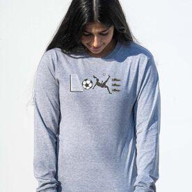 Soccer Tshirt Long Sleeve - Soccer Love