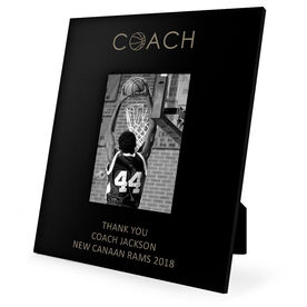 Basketball Engraved Picture Frame - Coach