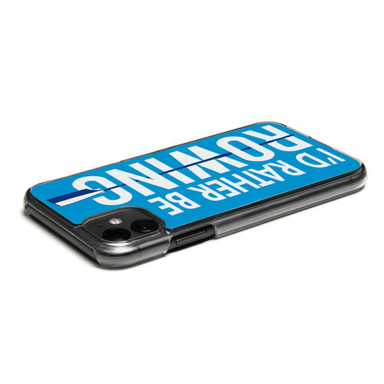 Crew iPhone® Case - I'd Rather Be Rowing