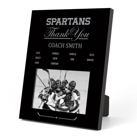 Hockey Photo Frame - Thank You Coach Roster