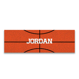 "Basketball 12.5"" X 4"" Removable Wall Tile - Personalized Ball"