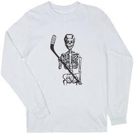 Hockey Long Sleeve T-Shirt - Skeleton (Black)
