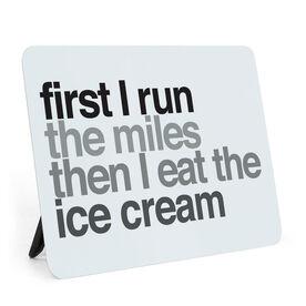 Running Desk Art - Then I Eat The Ice Cream