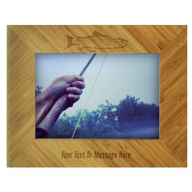 Fly Fishing Bamboo Engraved Picture Frame Rainbow Trout