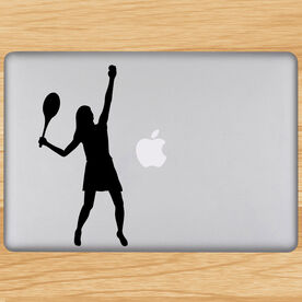Girl Tennis Player Removable ChalkTalkGraphix Laptop Decal