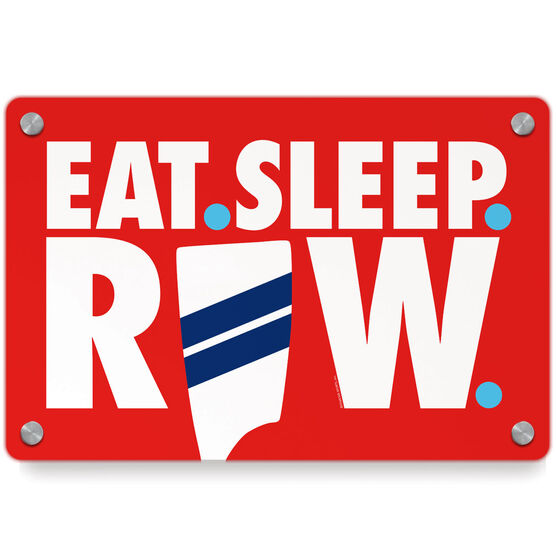 Crew Metal Wall Art Panel - Eat Sleep Row