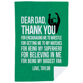Wrestling Premium Blanket - Dear Dad