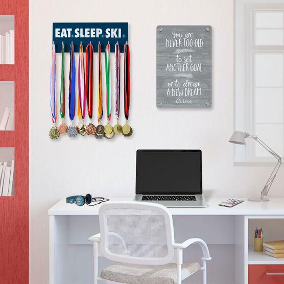 Skiing Hooked on Medals Hanger - Eat Sleep Ski