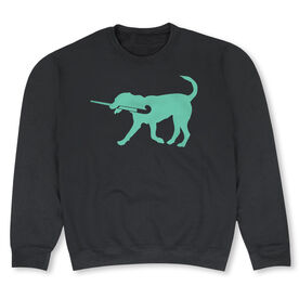 Field Hockey Crew Neck Sweatshirt - Flick The Field Hockey Dog