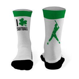 Softball Printed Mid Calf Socks I Shamrock Softball