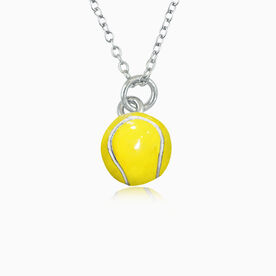 Tennis Enamel Tennis Pendant Necklace