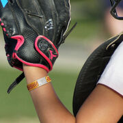 Authentic Softball Leather Bracelet With Slider - Personalized Bat