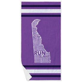 Running Premium Beach Towel - Delaware State Runner