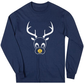 Softball Long Sleeve Tee - Reindeer