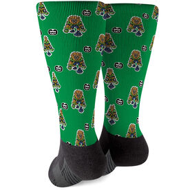 Seams Wild Football Printed Mid-Calf Socks - Kingsley (Pattern)