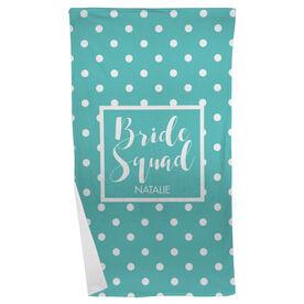 Personalized Beach Towel - Bride Squad