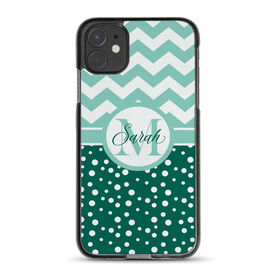 Personalized iPhone® Case - Chevron Monogram with Dots