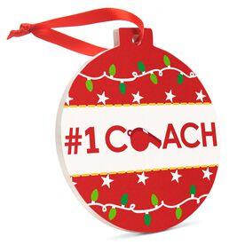 Round Ceramic Ornament - #1 Coach