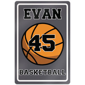 """Basketball Aluminum Room Sign Guy Personalized Basketball (18"""" X 12"""")"""