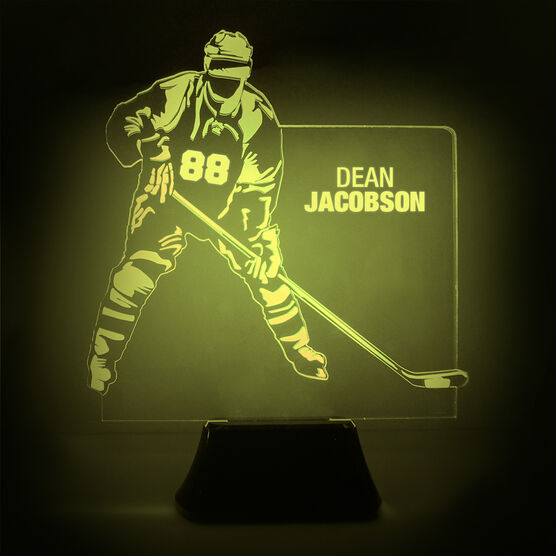 Hockey Acrylic LED Lamp Player Name and Number