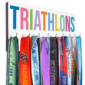 Triathlon Hooked on Medals Hanger - Triathlons