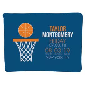 Basketball Baby Blanket - Birth Announcement