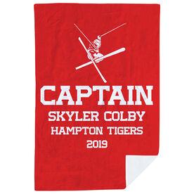 Skiing Premium Blanket - Personalized Ski Captain