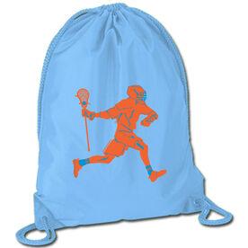 Lacrosse Sport Pack Cinch Sack Lacrosse Player Neon Orange