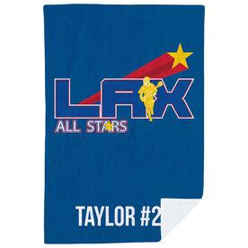 Guys Lacrosse Premium Blanket - Custom Team Logo
