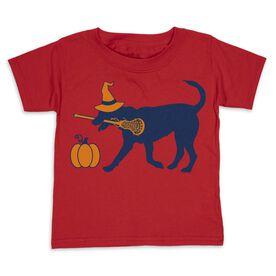 Girls Lacrosse Toddler Short Sleeve Tee - Lula Witch Dog