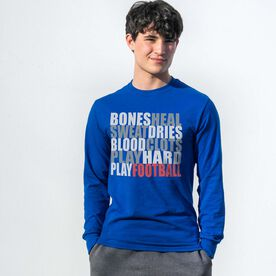 Football Tshirt Long Sleeve - Bones Saying