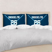Hockey Pillowcase - Personalized Team Crossed Sticks