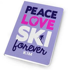 Skiing Notebook Peace Love Ski