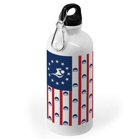 Swimming 20 oz. Stainless Steel Water Bottle - American Lanes With Swimmer Icon