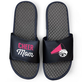 Cheerleading Navy Slide Sandals - Cheer Mom