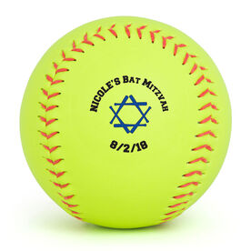 Personalized Softball - Bat Mitzvah