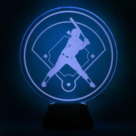 Softball Acrylic LED Lamp Batter